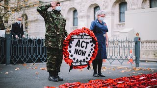 video: Met Police criticised over Extinction Rebellion's 'hijacking' of Cenotaph on Armistice Day