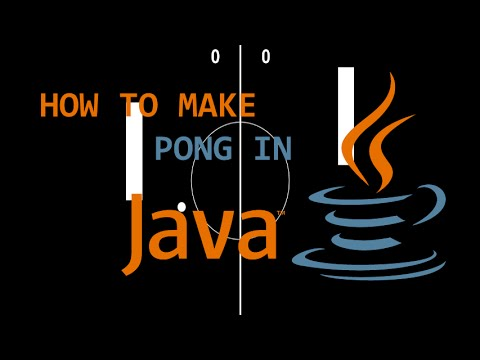 Programming Pong in Java! (Full Tutorial)