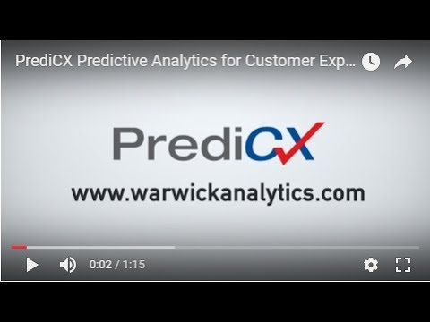 Intro to PrediCX™ for Customer Experience VoC data
