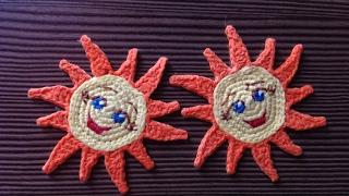 DIY Сувенир к масленице - вяжем крючком весеннее солнышко