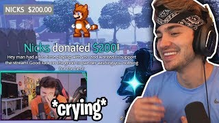 I donated to the MOST UNDERRATED Mixer Fortnite Streamer... (emotional)