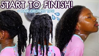 KIDS WASH DAY ROUTINE FOR HAIR GROWTH From Start To Finish! *VERY DETAILED*