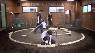 小錦 How to Build a Dohyo Sumo Ring