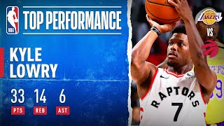 Kyle Lowry GOES OFF For 33 PTS & Career-High 14 REB In W!