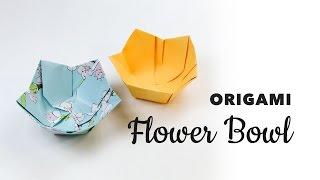 Origami Flower Bowl Tutorial ♥︎ DIY ♥︎ Paper Kawaii