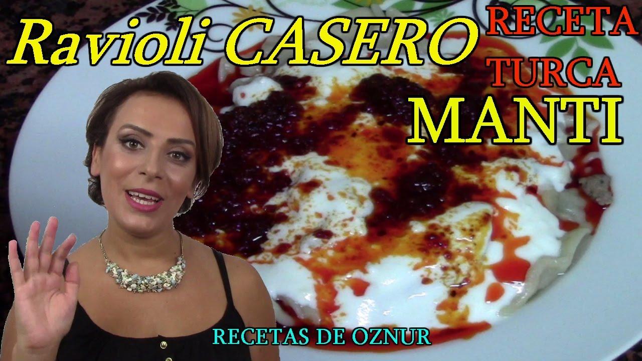 RAVIOLI DE CARNE CASERO (MANTI) | recetas de cocina faciles rapidas y economicas de hacer