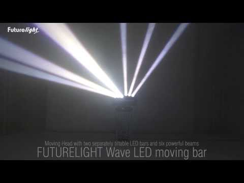 FUTURELIGHT Set 4x Wave LED Moving Bar + Case