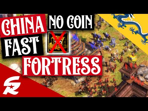 NO COIN China Fast Fortress!! | Strategy School | Age of Empires III