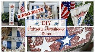3 Farmhouse Patriotic DIY's | BUDGET 4th of July Decor