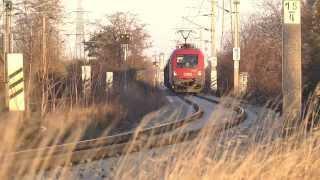 preview picture of video 'ÖBB Donauländebahn zwischen Wien-Oberlaa und Schwechat-Kledering'