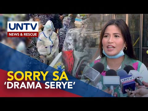 [UNTV]  Pialago, nag-sorry matapos tawaging 'drama serye' ang paghihinagpis ni Reina Nacino