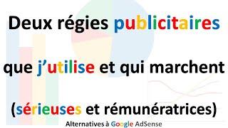 Régies publicitaires autres que Google Adsense (affiliassure, PubWebNet)