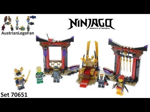 Vidéo LEGO Ninjago 70651 : La confrontation dans la salle du trône