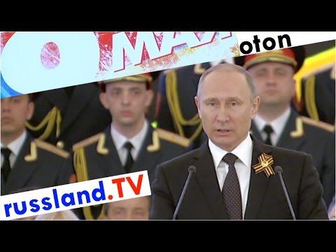 Putin zum Sieg über den Faschismus auf deutsch [Video]
