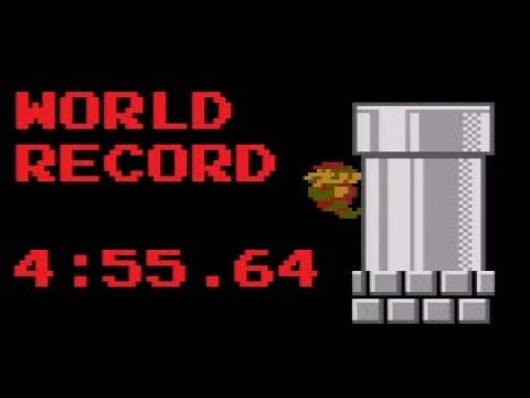 New World Record for Super Mario Bros. (NES) set by Kosmicd12 (4:55.646). Broke previous record by 0.1 seconds.