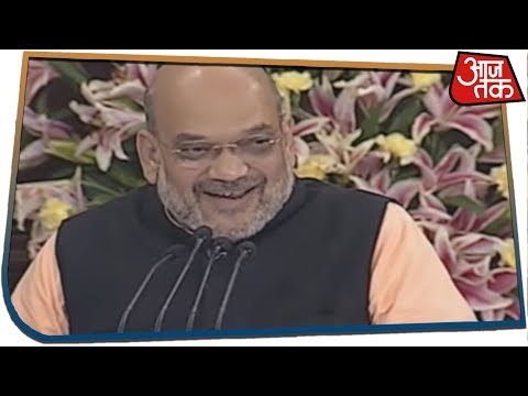 अमित शाह ने नरेंद्र मोदी के एनडीए संसदीय दल के नेता बनने की घोषणा की