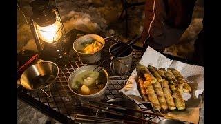 滋賀県で2泊3日の年越しキャンプ② 直火で料理した晩ご飯  I Go Conjugally Camp Travel