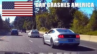 CAR CRASHES IN AMERICA #25 | BAD DRIVERS USA, CANADA