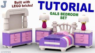 Girls LEGO Bedroom Set How To Tutorial