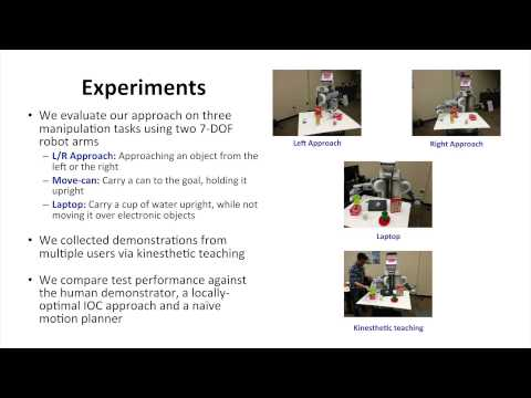 Graph-based Inverse Optimal Control for Robot Manipulation