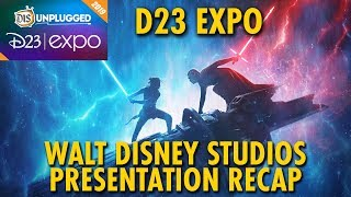 Walt Disney Studios, Animation, Lucasfilm, Marvel, & Pixar Presentation | D23 Expo 2019 | Day 2