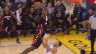 James Johnson Dunks on Stephen Curry! Stephen Curry Gets Posterized! Heat vs Warriors | Kholo.pk
