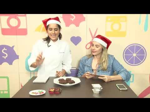 Aprenda a fazer brownies natalinos no DGABC Mix