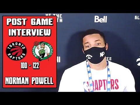 Norman Powell Postgame Interview | Raptors vs Celtics | 08-07-20