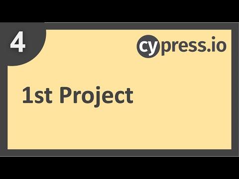 Cypress Beginner Tutorial 4   1st Project Setup