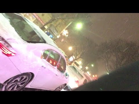 Surprise Snow Storm Car Vlog - Driving During Bad Weather & GTA 5 Live Stream Behind The Scenes