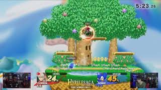 Hyrule Saga - Cosmos (Corrin) Vs. Aperture (Sonic) Pools - Smash 4