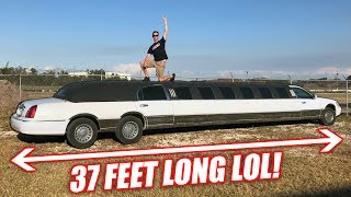 I Bought a Freaking GIGANTIC Cheap Limo and It