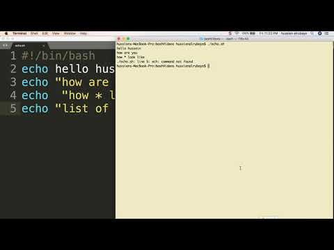 3-  Shell Scripting: echo|  الطباعة