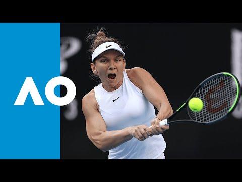 Jennifer Brady v Simona Halep match highlights (1R) | Australian Open 2020