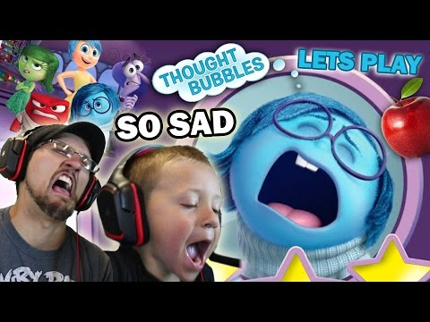 Lets Play DISNEY INSIDE OUT THOUGHT BUBBLES! (Apple Shadows & So Sad Sadness)