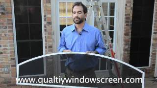 How To Measure and Install  Arched Window and Solar Screens