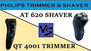 Philips Trimmer vs Philips Shaver detail comparison