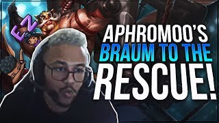 Gambar cover Aphromoo - BRAUM TO THE RESCUE!!! | Support Gameplay