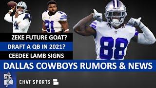 Cowboys Rumors: Draft QB In 2021? Sign Jordan Reed? + Cowboys News On CeeDee Lamb Signing & Zeke