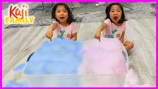 Foam Bubbles Soap Easy DIY Science Experiments for kids