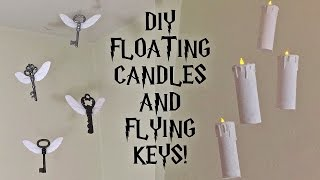 DIY Harry Potter Floating Candles And Flying Keys | Room/Party Decor