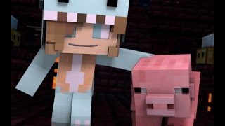 """Minecraft Song and Minecraft Animation """"Gimme Back My Pig"""" Psycho Girls Little Sister Minecraft Song"""