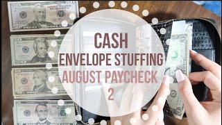 Stuffing my CASH ENVELOPES | august paycheck 2 | Dave Ramsey inspired