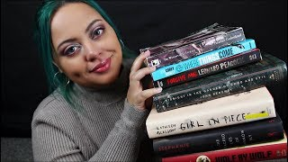 ASMR| My Spring Reading List - Book Tapping, Page Flipping, Upclose Ear to Ear Whispering