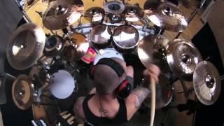 Ryan Van Poederooyen Drumcam (Devin Townsend Project)   'Transcendence' Studio Footage 2016