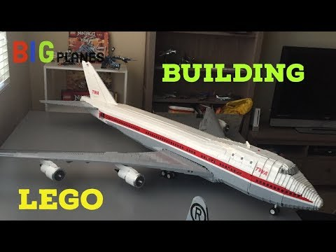 Building a LEGO 747 from start to finish - BigPlanes - Video