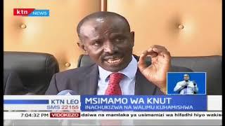 Msimamo wa KNUT: KNUT chatoa ilani ya mgomo wa walimu tarehe 2 Januari