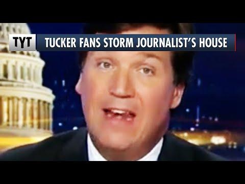 Tucker Carlson Fanatics Harass Journalist