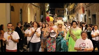 preview picture of video 'Notte Rainbow - Omphalos Perugia Pride Village 2014'