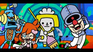 Dr. Crygor Stage with the TECH GANG - Crew of 3 score: 90 - Warioware Get It Together